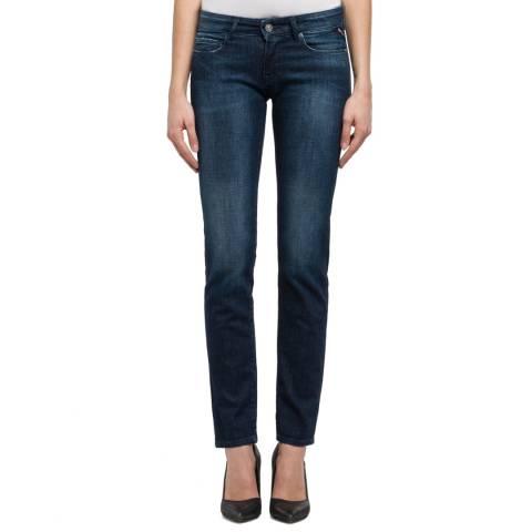 Replay Dark Blue Rose Slim Stretch Jeans