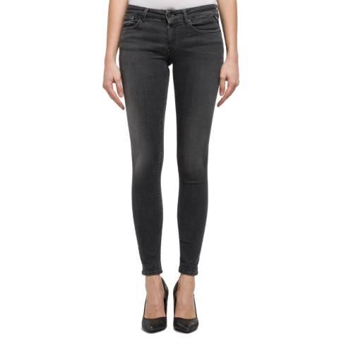 Replay Black Luz Skinny Stretch Jeans