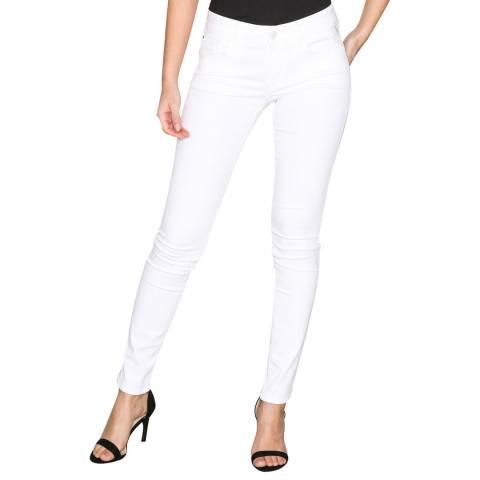 Replay White Luz Skinny Stretch Jeans
