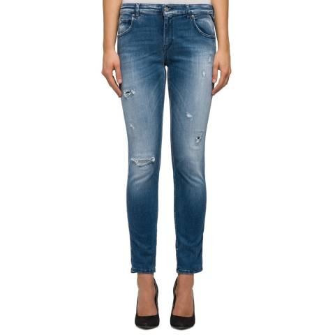 Replay Blue Hyperflex Katewin Slim Stretch Jeans