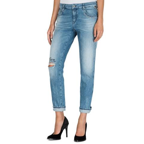 Replay Blue Katewin Slim Boy Fit Stretch Jeans