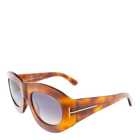 Tom Ford Women's Light Havana Mila Sunglasses 53mm