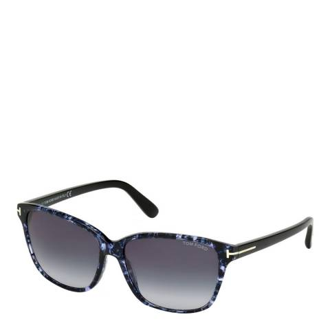 Tom Ford Women's Black/Purple Havana Sunglasses 59mm
