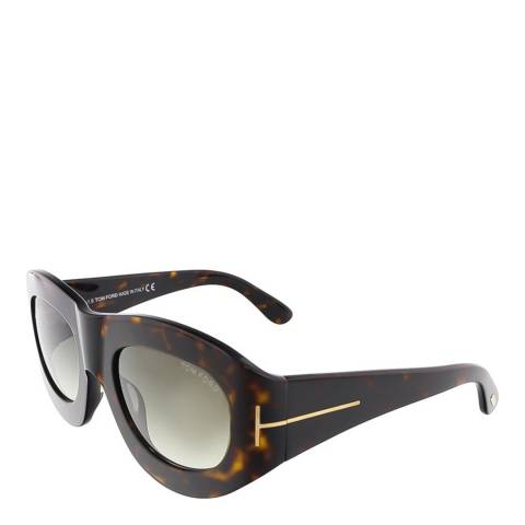Tom Ford Women's Dark Havana Mila Sunglasses 53mm