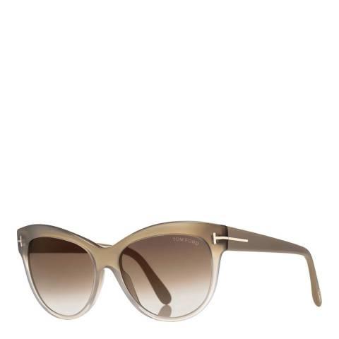 Tom Ford Women's Beige Cateye Sunglasses 56mm