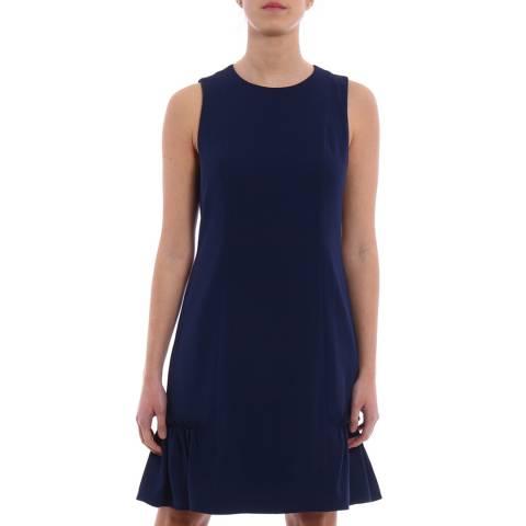 Michael Kors Navy Sleeveless Ruffle Dress