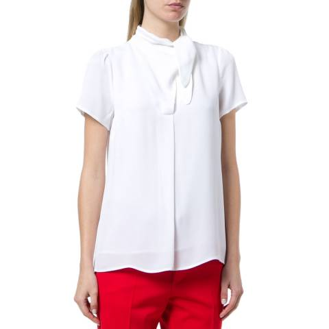Michael Kors White Tie Neck Blouse