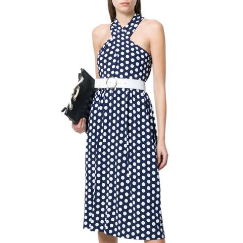 Michael Kors Navy and White Simple Polka Dot Dress