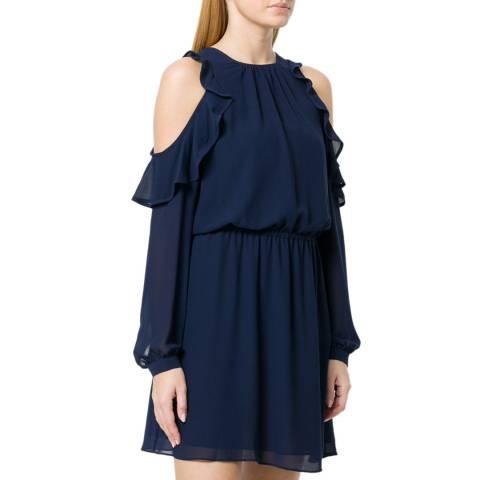 Michael Kors Navy Cold-Shoulder Dress