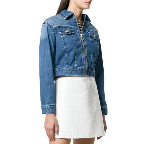 Michael Kors Zip Up Jean Jacket