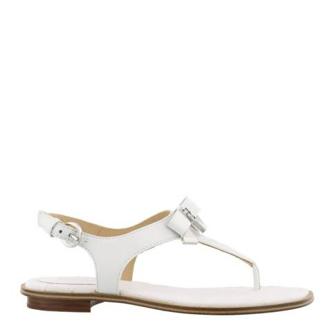 Michael Kors White Leather Alice Thong Sandals
