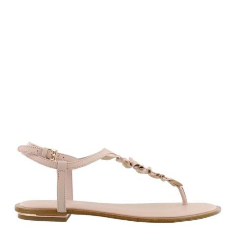 Michael Kors Soft Pink Leather Bella Ruffle Sandals