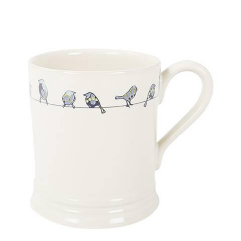 Jersey Pottery Set of 6 Blue Tit Mug