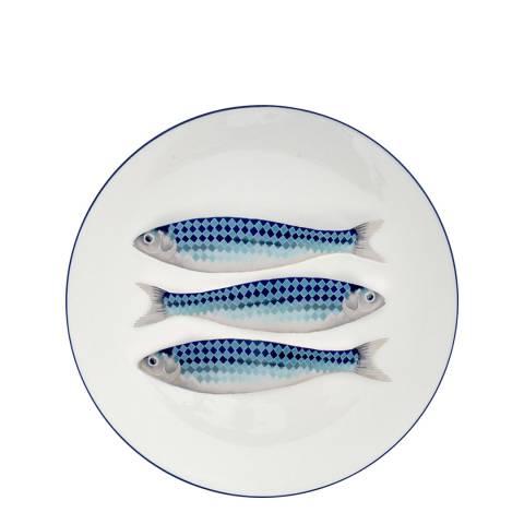 Jersey Pottery Blue Harlequin Charger Platter, 30cm