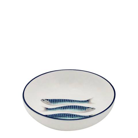 Jersey Pottery Set of 4 Blue Harlequin Dipping Bowls, 11cm