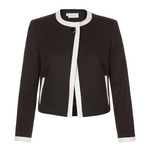 Hobbs London Black/Ivory Jacquie Jacket