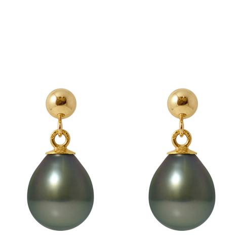 Atelier Pearls Yellow Gold Tahitian Style Pearl Earrings