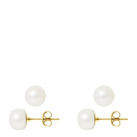 Atelier Pearls Yellow Gold Freshwater Pearl Earrings