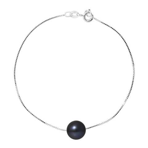 Ateliers Saint Germain White Gold Black Tahitian Style Pearl Bracelet
