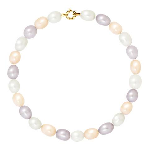 Ateliers Saint Germain Yellow Gold /Multicolored Pastel Pearl Bracelet 4-5mm