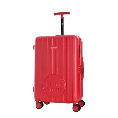 Bagstone Red Eady 4 Wheeled Suitcase 60cm