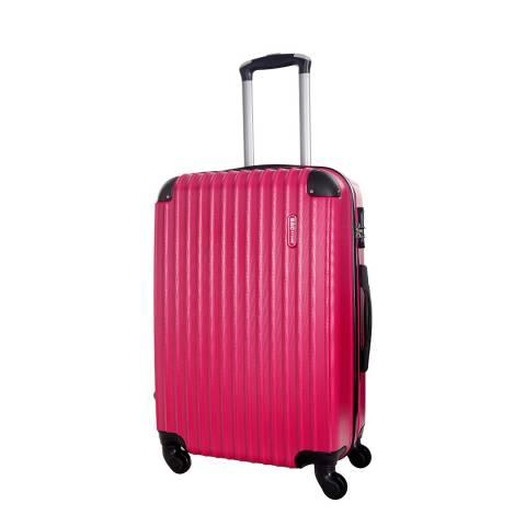 Bagstone Fuchsia Scoop 4 Wheeled Suitcase 60cm