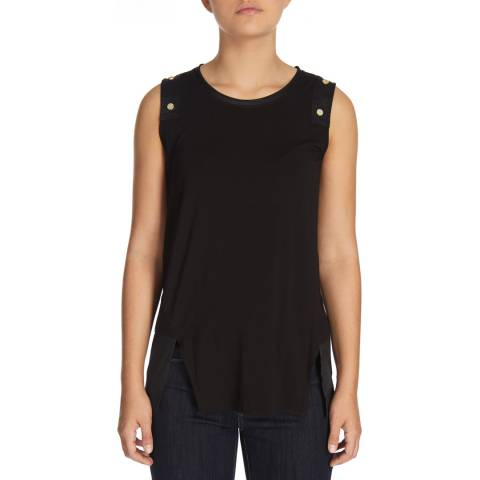 DKNY Black Sleeveless Crew Neck Top