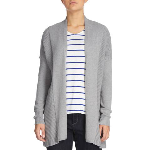 DKNY Heather Grey Long Sleeve Mix Rib Cardigan