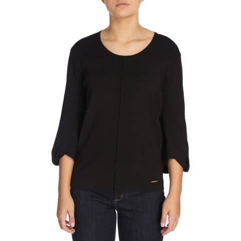 DKNY Black 3/4 Sleeve Top