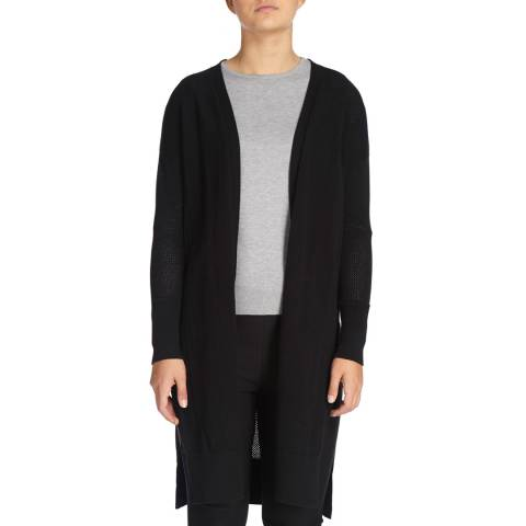DKNY Black Long Sleeved Open Front Cardigan
