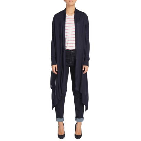 DKNY Navy Long Sleeve Cosy Cardigan