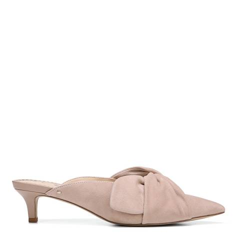 Sam Edelman Blush Suede Laney Kid Open Back Kitten Heels