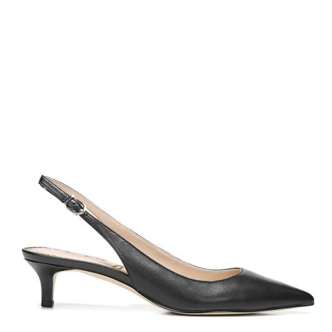 Sam Edelman Black Leather Ludlow Slingback Kitten Heels