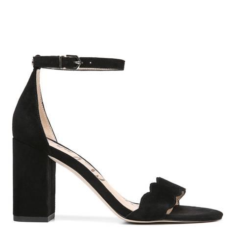 Sam Edelman Black Suede Odila Block Heel Sandals