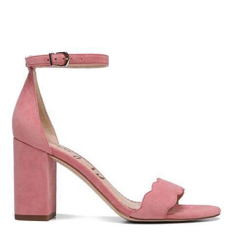 Sam Edelman Pink Suede Odila heeled sandal