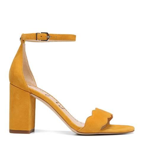 Sam Edelman Yellow Suede Odila heeled sandal