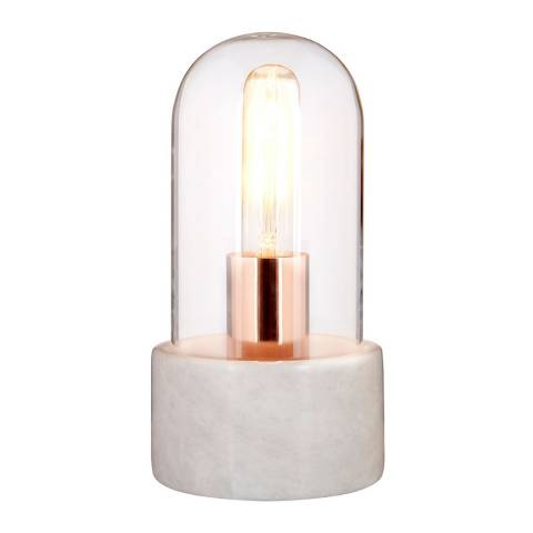 Fifty Five South White Marble/Glass Lamonte Bell Lamp