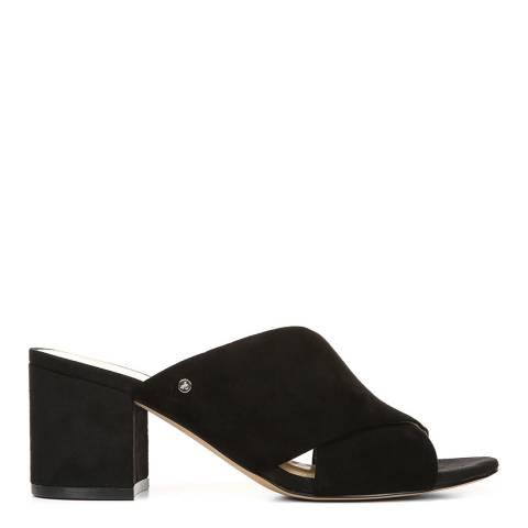 Sam Edelman Black Suede Stanley heeled sandal