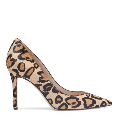Sam Edelman Nude Leopard Hazel Brahma Hair Court Shoes