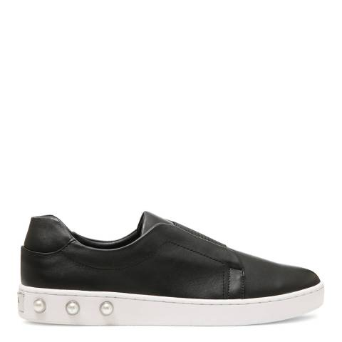 DKNY Black Leather Bobbi Pearl Sneakers