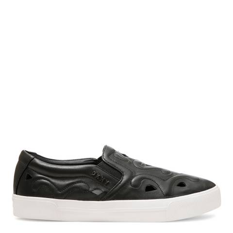 DKNY Black Leather Bess Sneakers