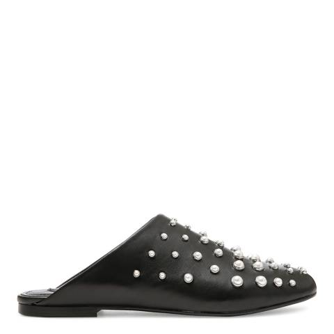 DKNY Black Pearl Leather West Mules