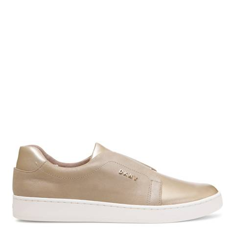 DKNY Champagne Leather Bobbi Sneakers