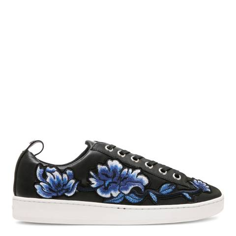 DKNY Black Embroidered Briley Sneakers