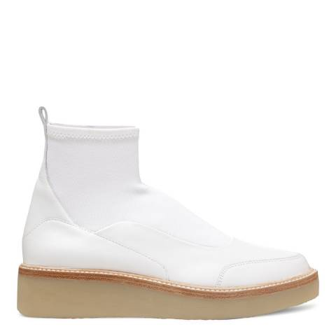 DKNY White Leather Karen Booties