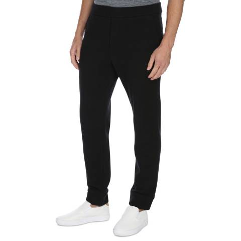 James Perse Black Compact Fleece Sweatpants
