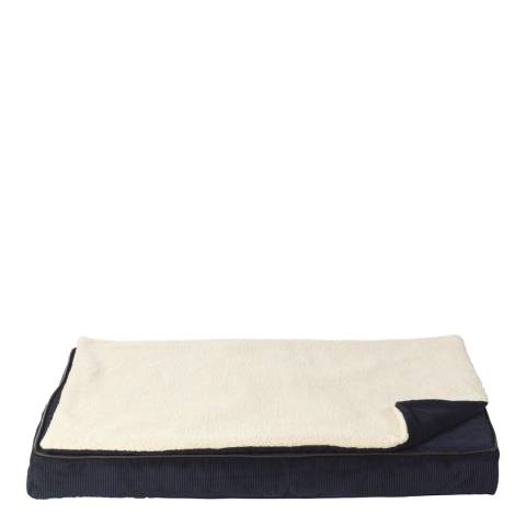 House Of Paws Navy L/XL Memory Foam Mat With Topper 90x62cm