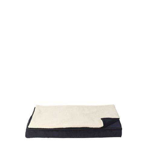House Of Paws Navy S/M Memory Foam Mat With Topper 80x57cm