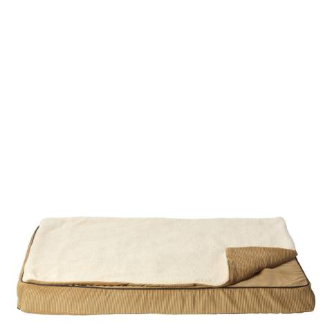 House Of Paws Tan L/XL Memory Foam Mat with Topper 90x62cm