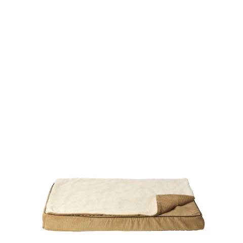 House Of Paws Tan S/M Memory Foam Mat With Topper 80x57cm